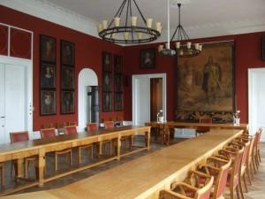 Byrådssal før restaurering